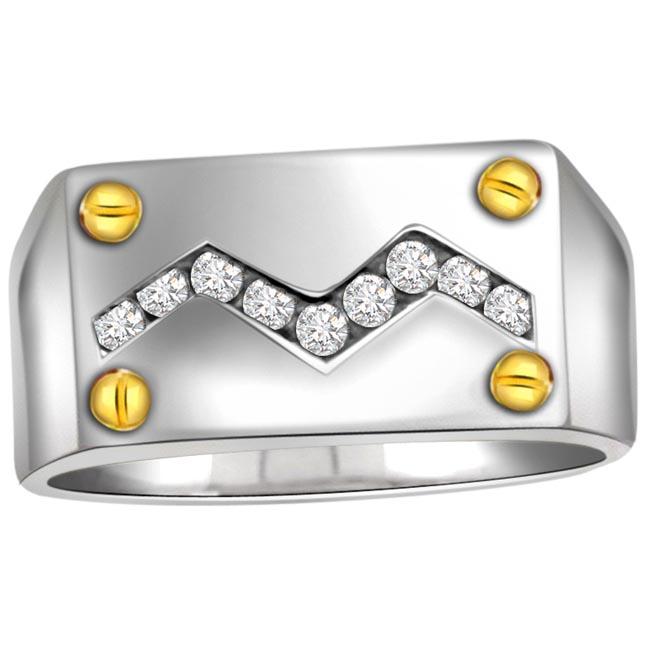 0.36cts Diamond Men's rings -White Gold rings