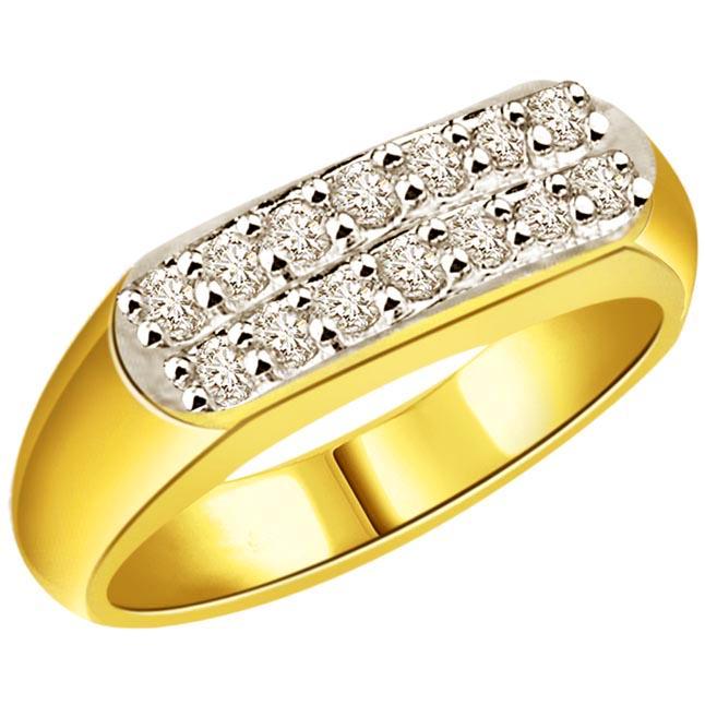 Diamond 0.64cts Men's rings