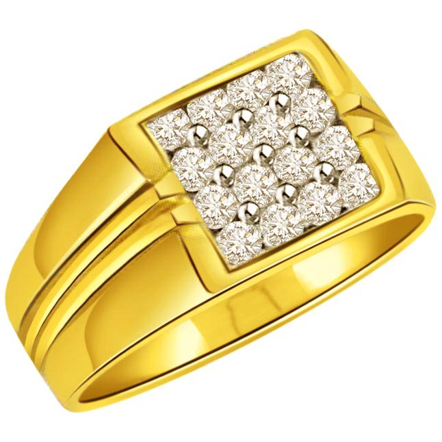 Diamond 0.48cts Men's rings