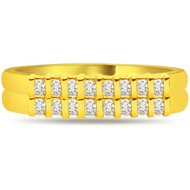 Diamond 0.80 cts Half Eternity rings -Yellow Gold Eternity rings