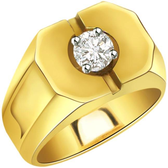 0.20 ct Diamond Men's Solitaire rings SDR356