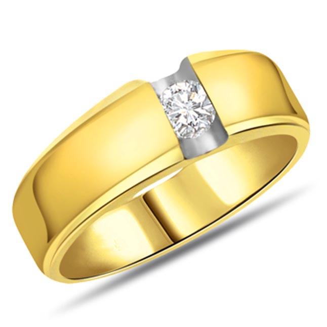 0.20 ct Diamond Men's Solitaire rings SDR358
