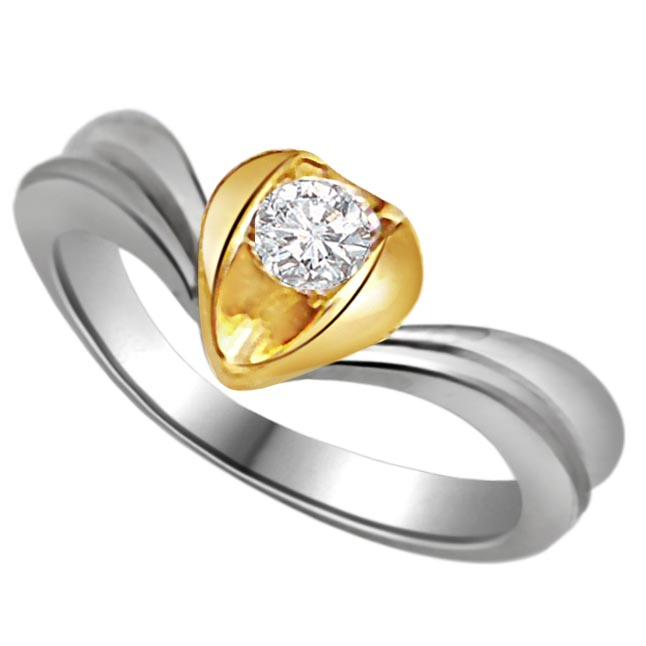 0.15 ct Diamond Heart Shape Solitaire rings