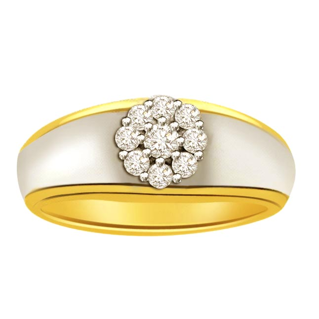 0.23 ct Diamond Two Tone rings SDR400