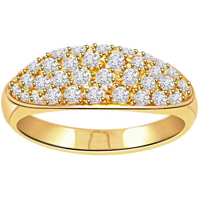 0.64ct Diamond Pave 18kt Gold rings -Pave Collection