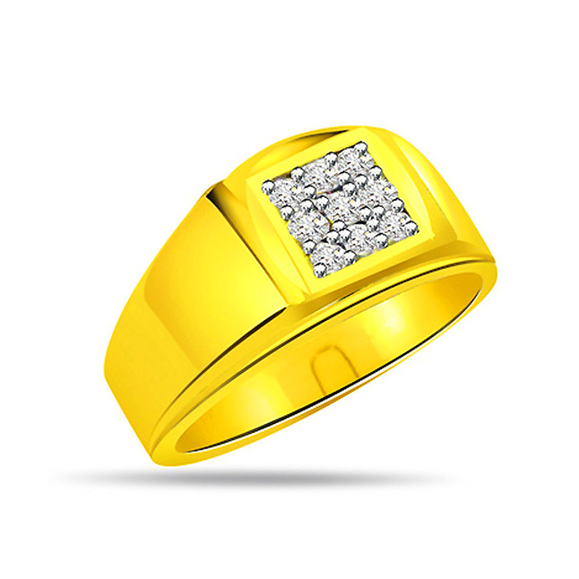 0.27ct Diamond Two -Tone 18kt Gold rings -White Yellow Gold rings