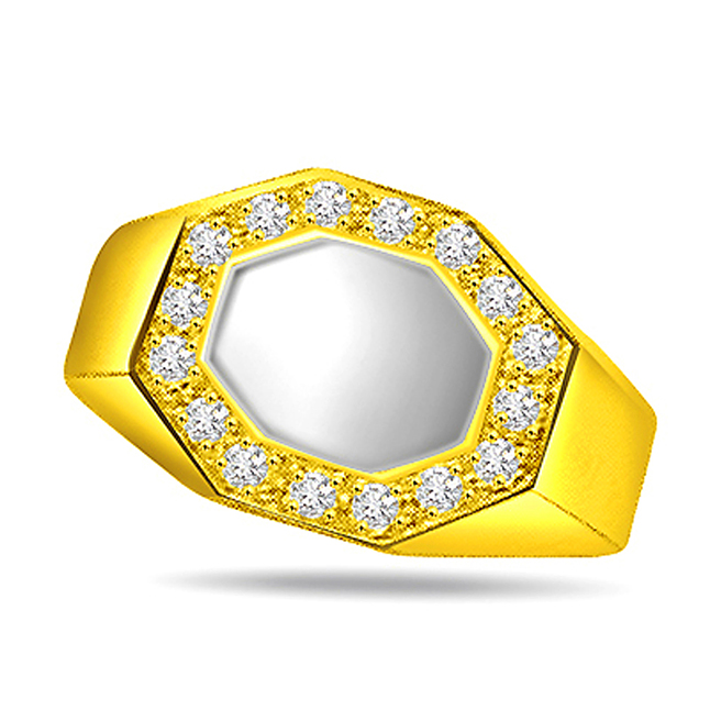 0.35ct Diamond Fine Two Tone 18kt Gold rings -White Yellow Gold rings
