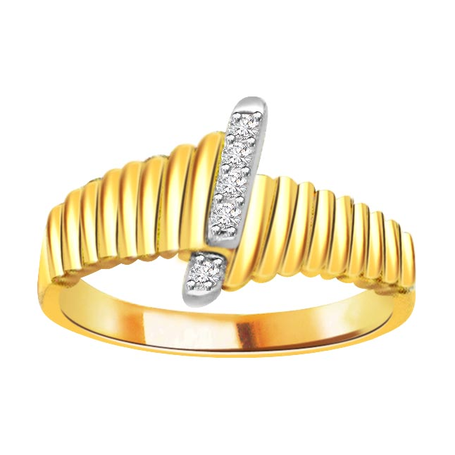 0.35ct Diamond 18kt Yellow Gold rings -White Yellow Gold rings