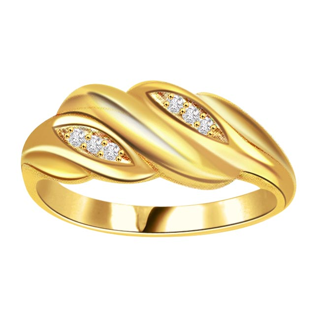 0.18ct Diamond 18kt Yellow Gold rings