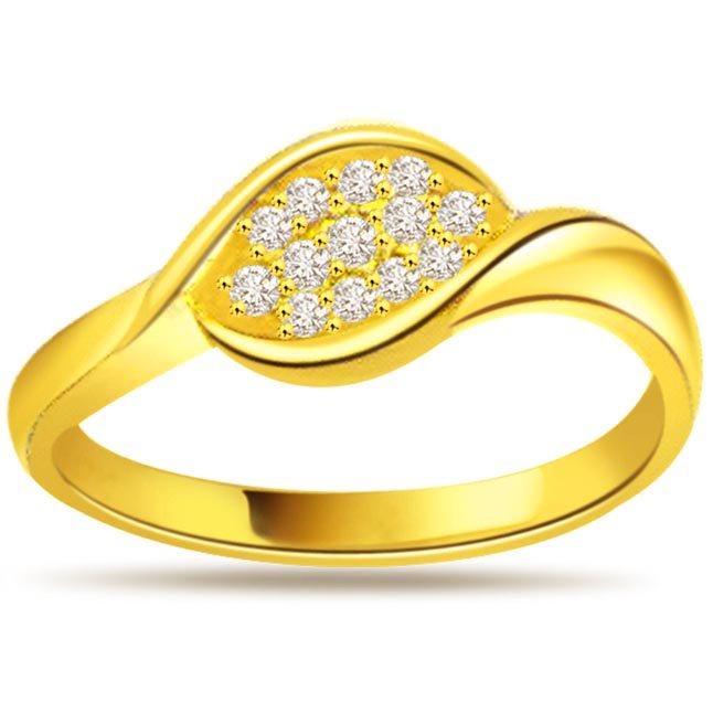 0.39ct Diamond 18kt Yellow Gold rings