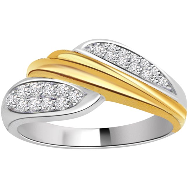 0.50ct Diamond Fine Two Tone 18kt Gold rings -White Yellow Gold rings