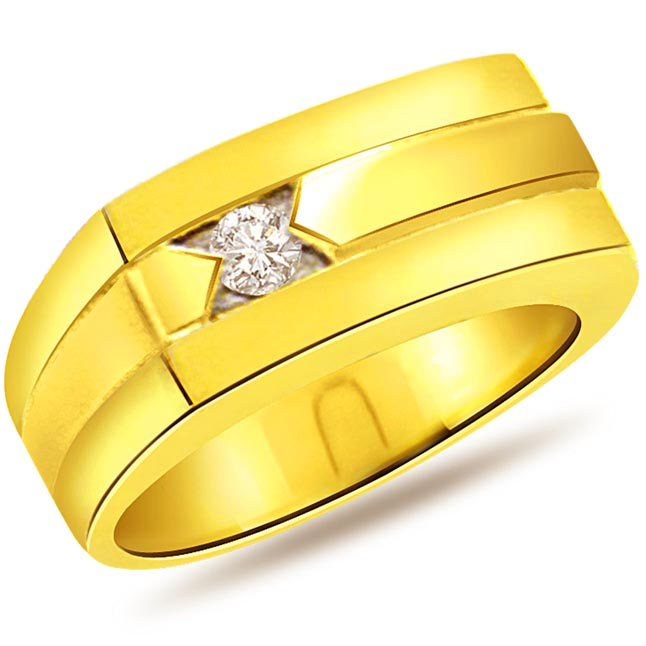 0.10ct Diamond Classic Two -Tone 18kt Gold rings