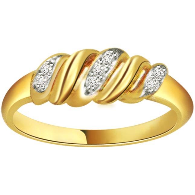 Two -Tone Diamond Gold rings SDR454