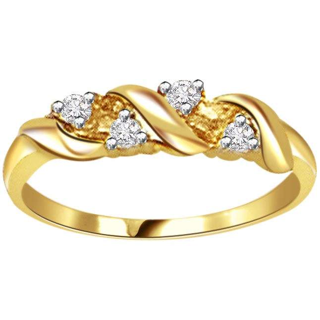 Classic Diamond Gold rings SDR455