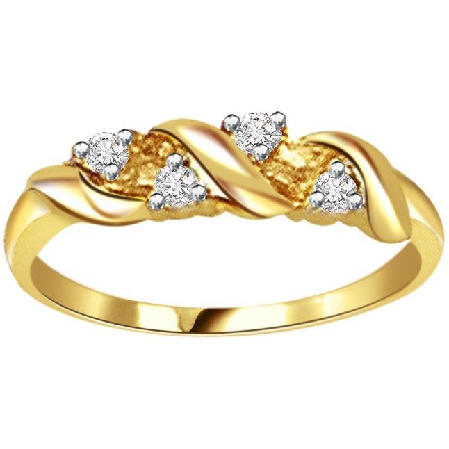 Gold Wedding Ring Price: Classic Diamond Gold Rings SDR455