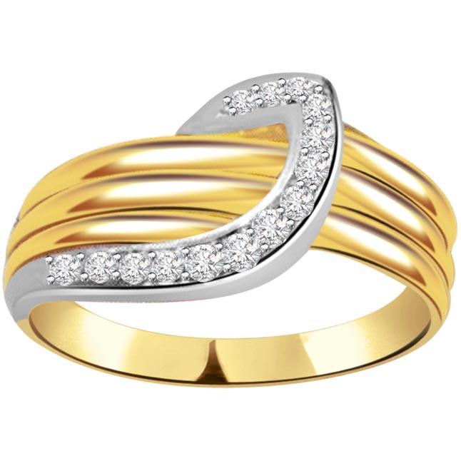 0.40ct Diamond Gold rings SDR457 -White Yellow Gold rings