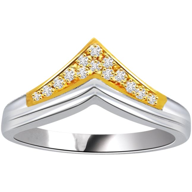 0.45ct Diamond Gold rings SDR462 -White Yellow Gold rings