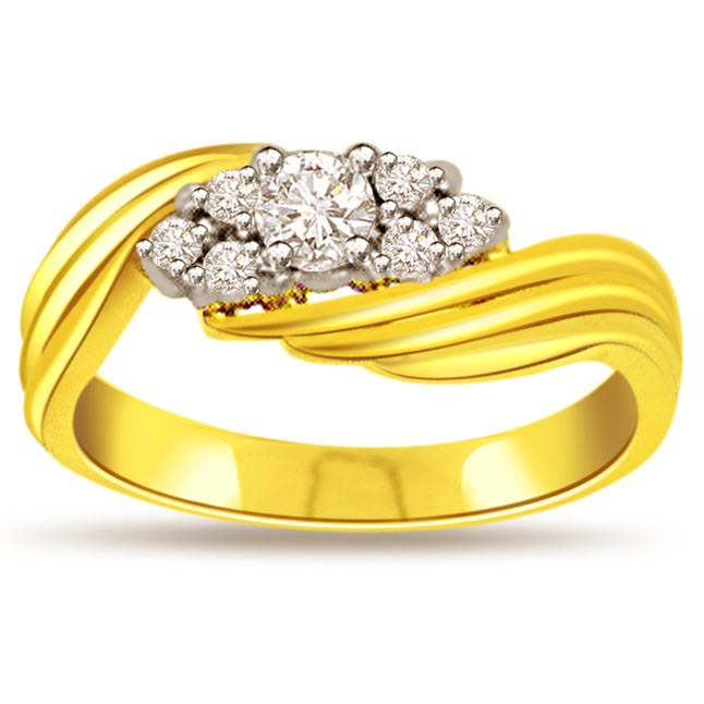 0.67ct Diamond Gold rings SDR463 -White Yellow Gold rings