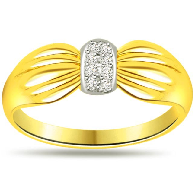 Two -Tone Diamond Gold rings SDR467 -18k Engagement rings
