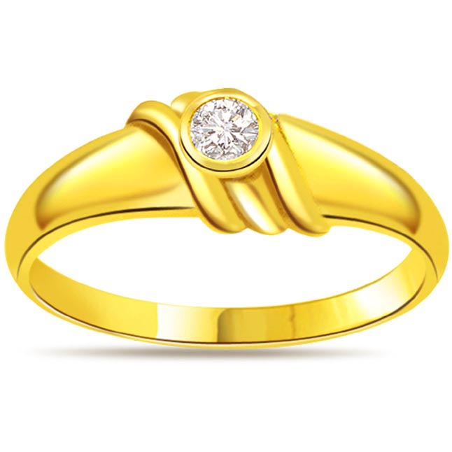 Diamond Solitaire Gold rings SDR471