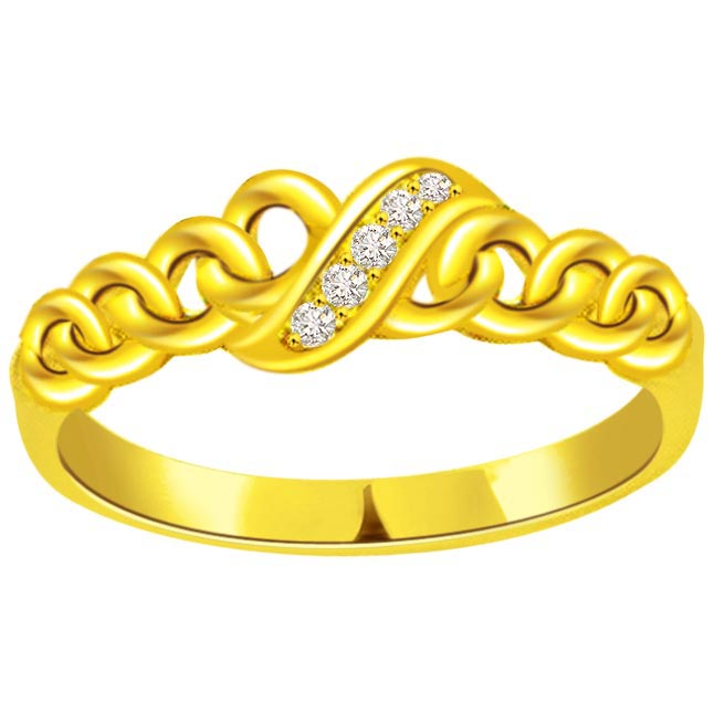 Classic Diamond Gold rings SDR473