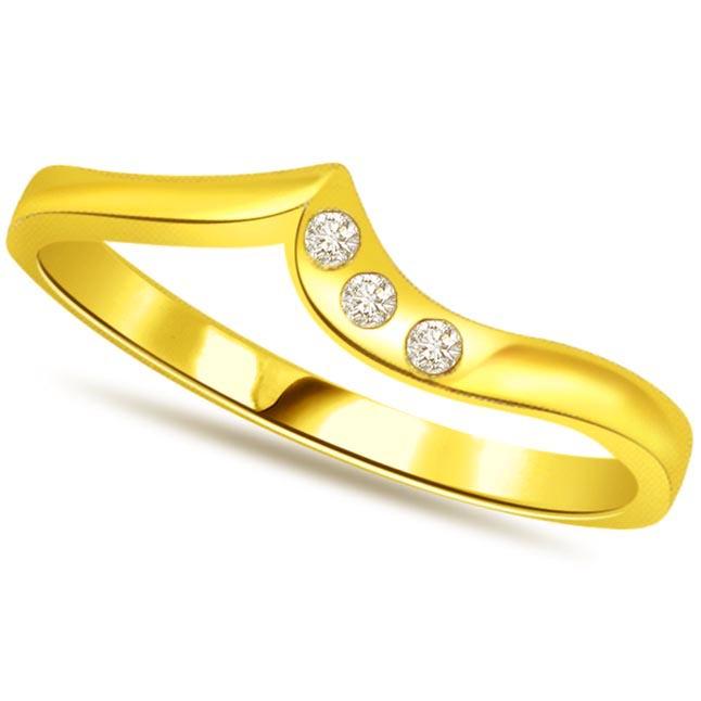 Designer Diamond Gold rings SDR476 -3 Diamond rings