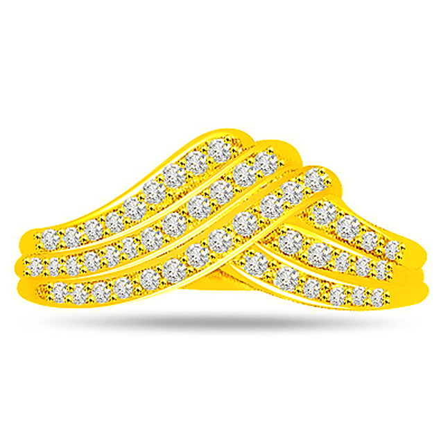 Designer Diamond Gold rings SDR477