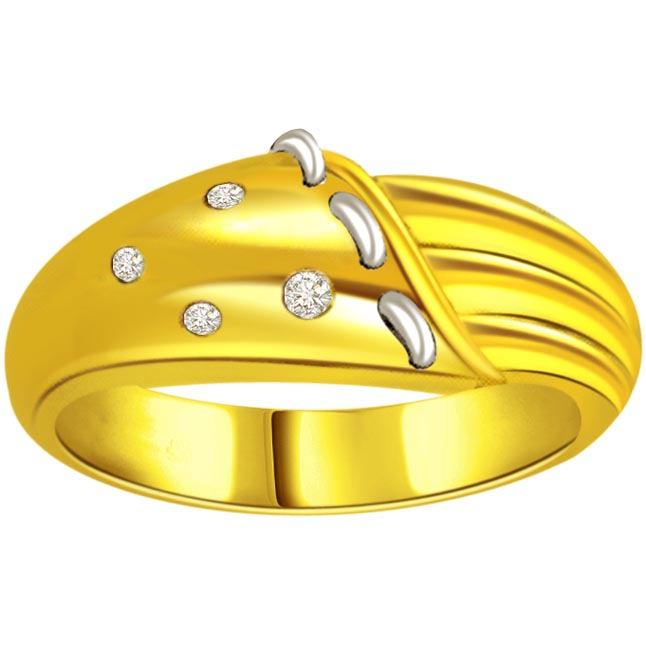 Classic Diamond Gold rings SDR479