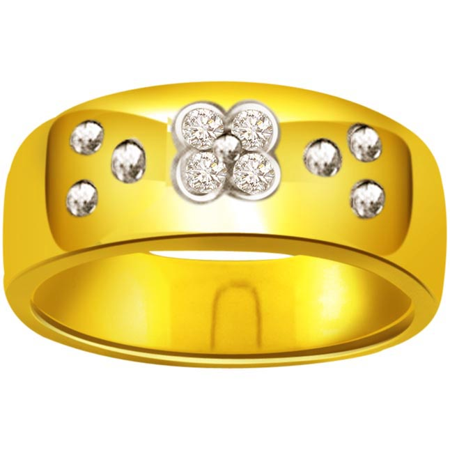Diamond Flower Shape rings SDR480
