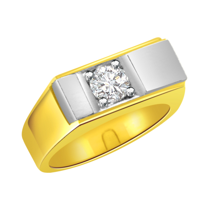 Two -Tone Diamond Gold rings SDR486