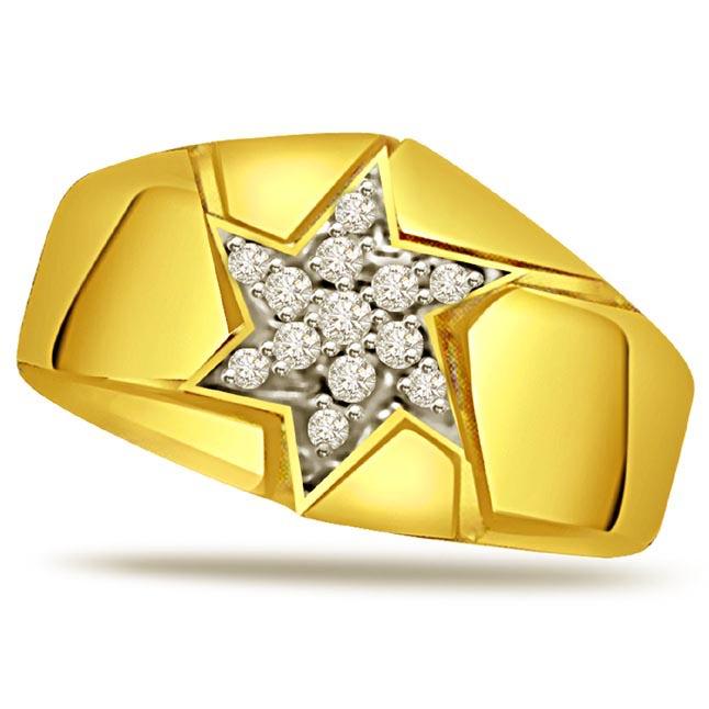 Diamond 18k Gold Men's rings