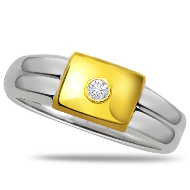 Diamond Solitaire Gold rings SDR491