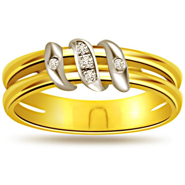 0.35ct Diamond Gold rings -White Yellow Gold rings