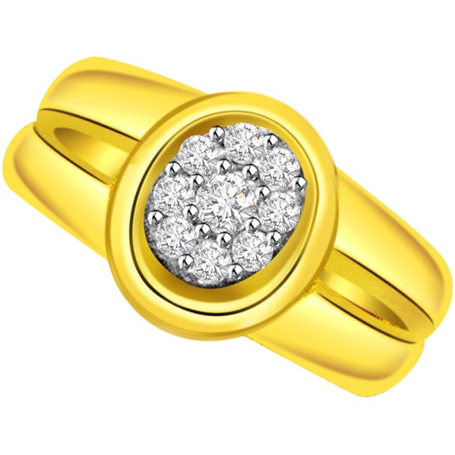 Classic Diamond Gold rings SDR501