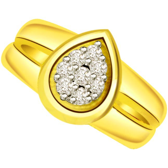 Classic Diamond Gold rings SDR506