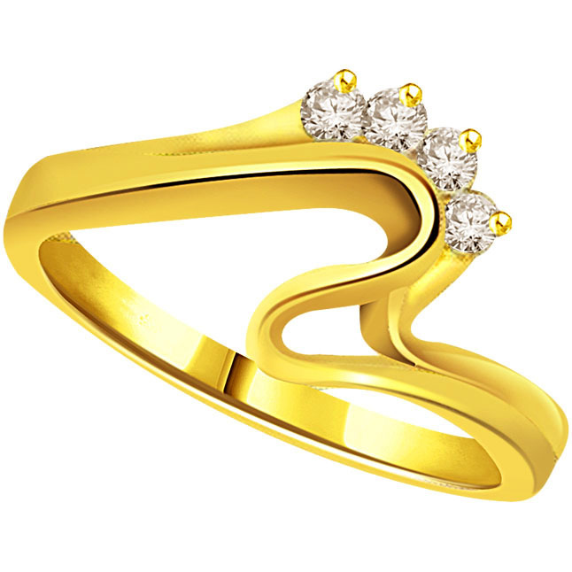 Classic Diamond Gold rings SDR507