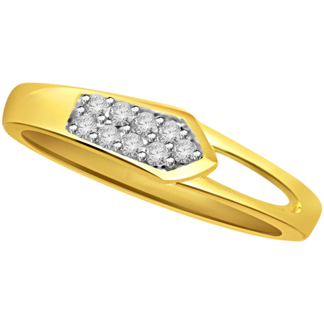 Designer Diamond Gold rings SDR509 -White Yellow Gold rings