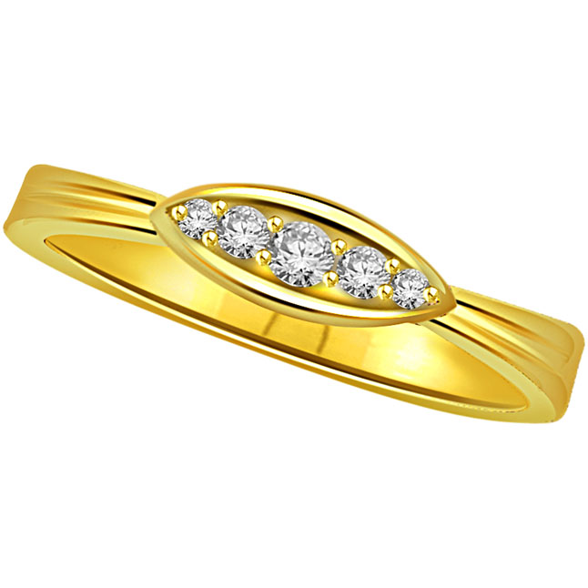 Classic Diamond Gold rings SDR510