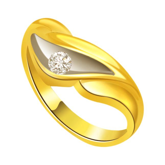 Two -Tone Diamond Gold rings SDR516