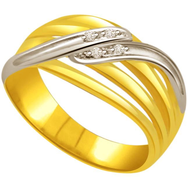 Two -Tone Diamond Gold rings SDR517 -Bringsing You Brilliance
