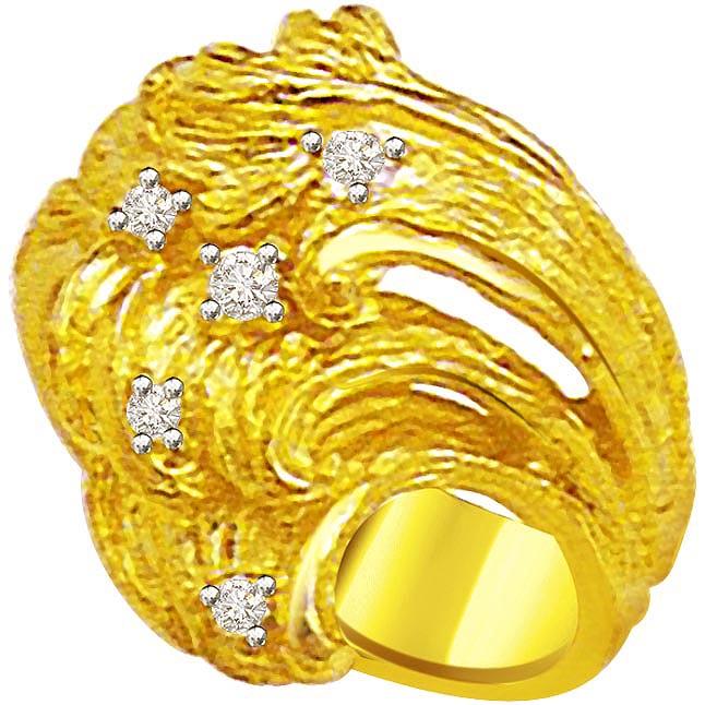 Classic Diamond Gold rings SDR522