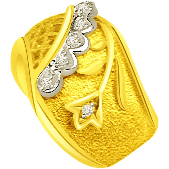 Designer Diamond Gold rings SDR523