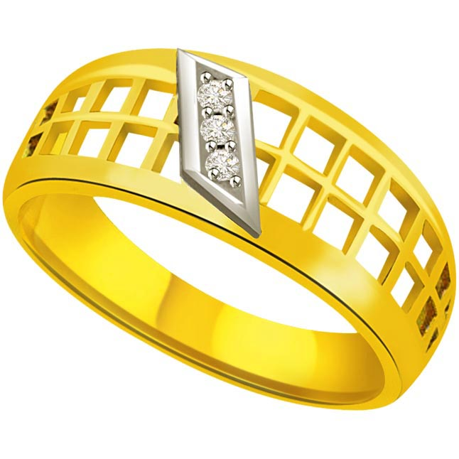 Two -Tone Diamond Gold rings SDR526 -3 Diamond rings