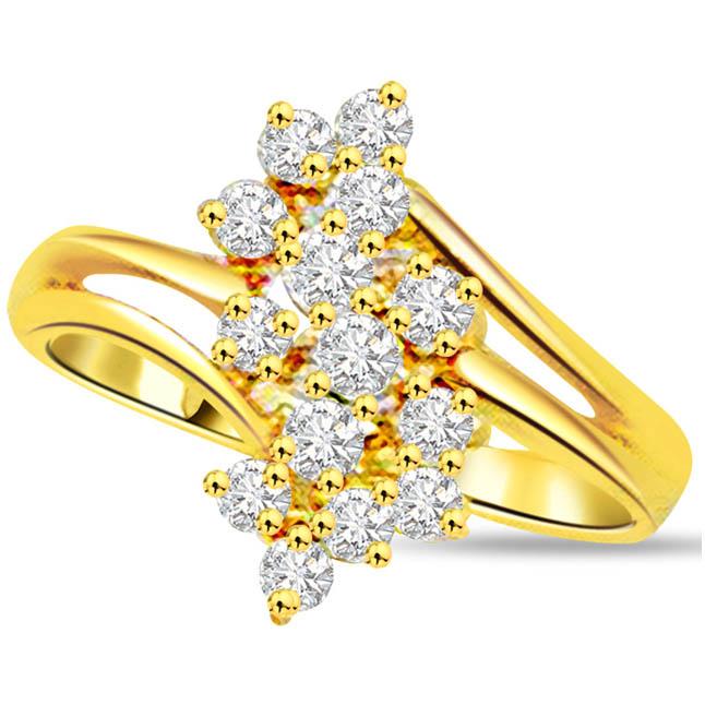 Designer Diamond Gold rings SDR541