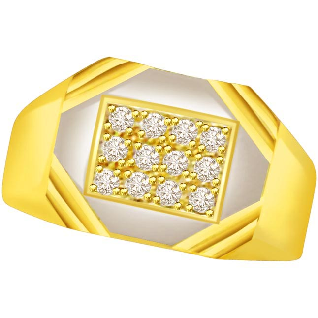 0.24 cts Designer Men's rings