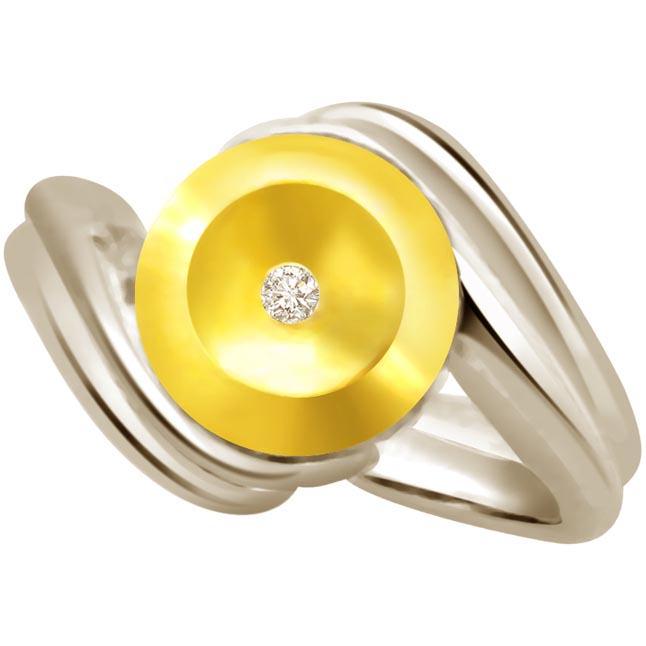 Diamond Solitaire Gold rings SDR547 -18k Engagement rings