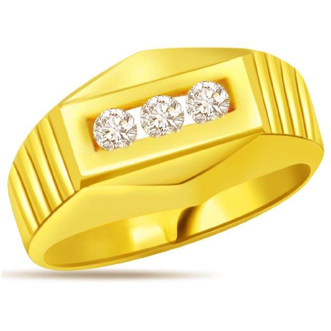 0.18 ct Diamond Men's rings
