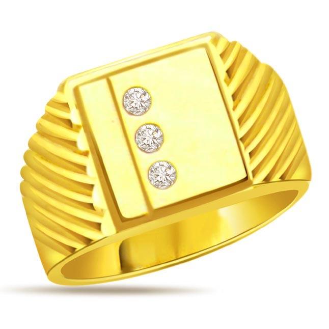 0.18 cts Diamond Men's Designer rings