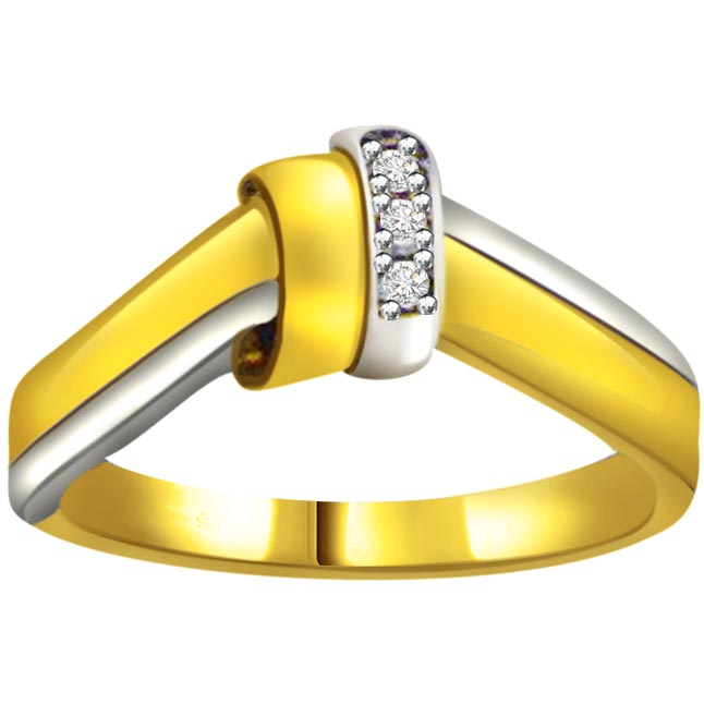 Two -Tone Diamond Gold rings SDR554 -3 Diamond rings