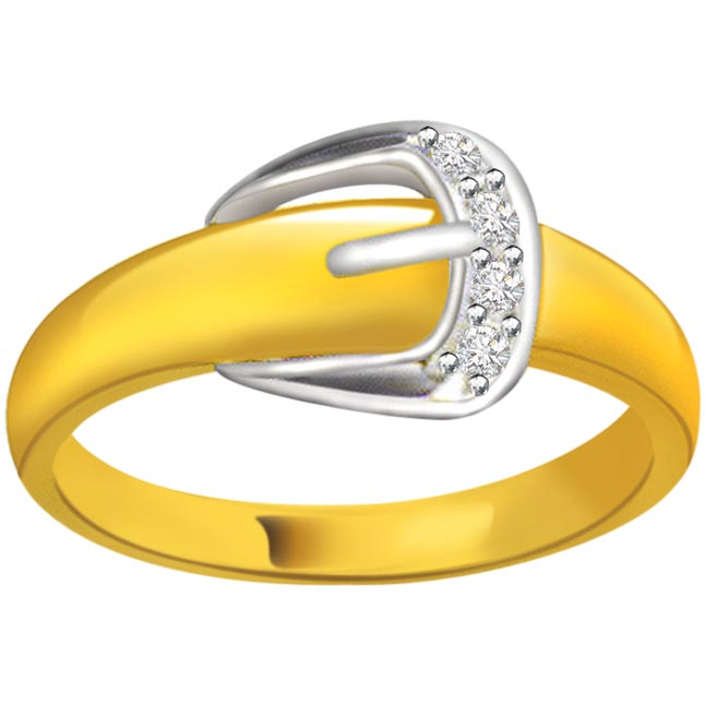 Two -Tone Diamond Gold rings SDR555 -White Yellow Gold rings
